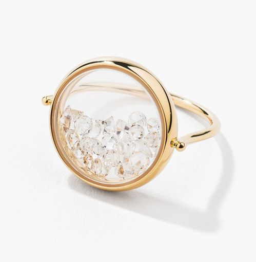 Aurélie Bidermann bague Chivor en diamants