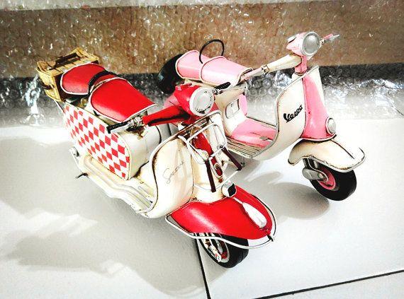 Luxury Retro Stil Vespa Motorrad Auto Modell Miniatur