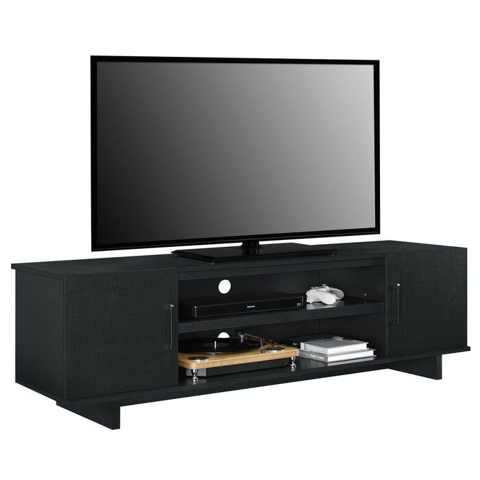 Funston Tv Stand For Tvs Up To 70 Black Tv Stand Tv Stand Oak Furniture