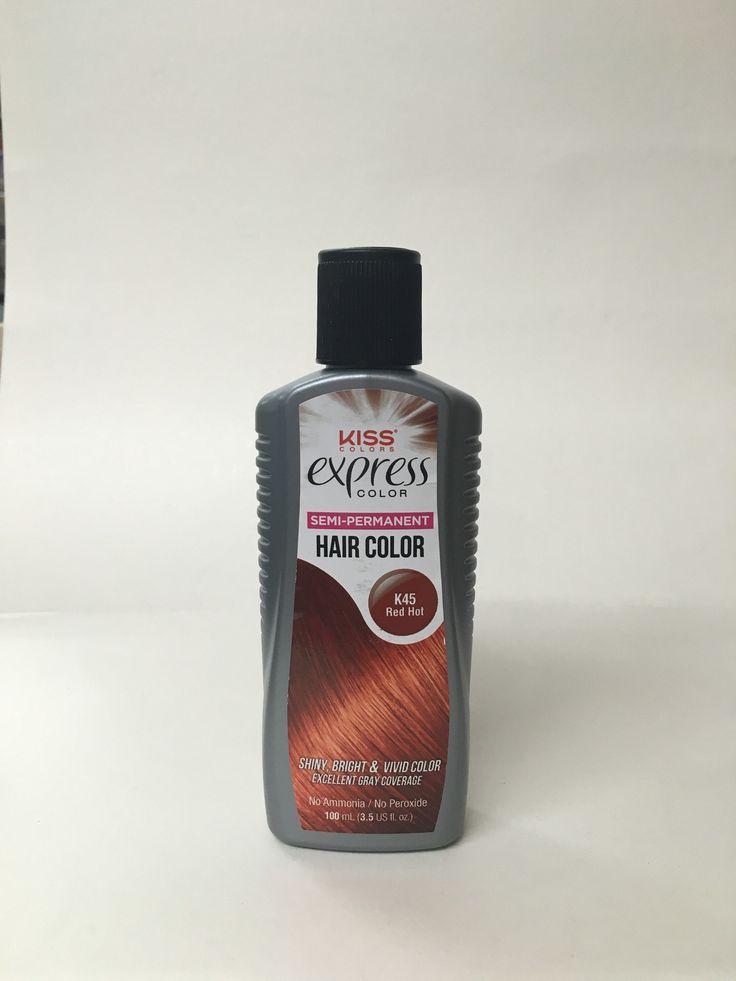 Kiss Colors Express Color Semi-Permanent Hair Color No Ammonia / No Peroxide 3.5 Ounce