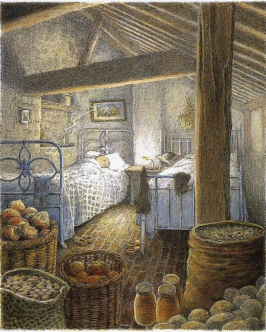 I found more illustrations by Inga Moore from Wind in the Willows on this blog . I only posted a few but there are lots...