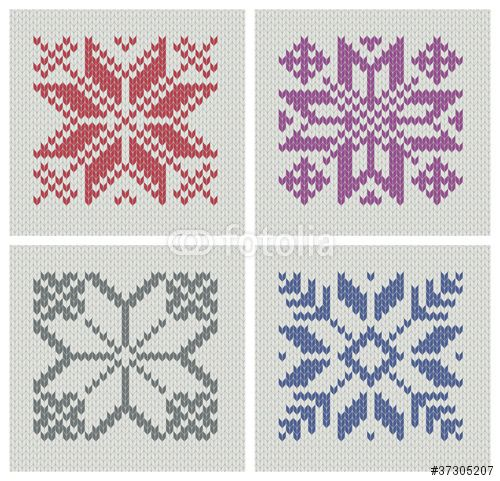 Vector: Nordic knitting seamless star patterns
