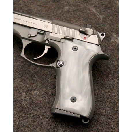 Beretta 92 White Pearl Kirinite Grips