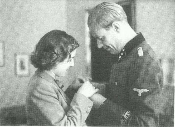 SS-Obersturmführer Hans Hermann Junge, Traudl Junge (Hitler's secretary) with her Husband