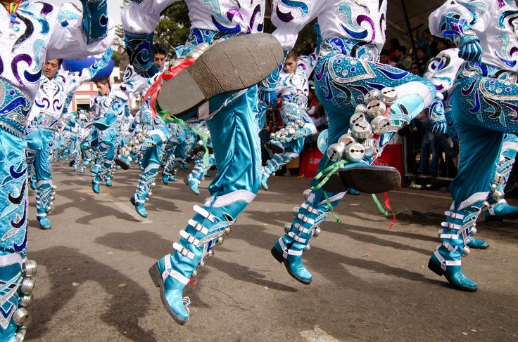 The Caporales dance is performed during the annual Carnival celebrations in Oruro, Bolivia. The photographer was kicked after this shot was taken. (Theo Stroomer)
