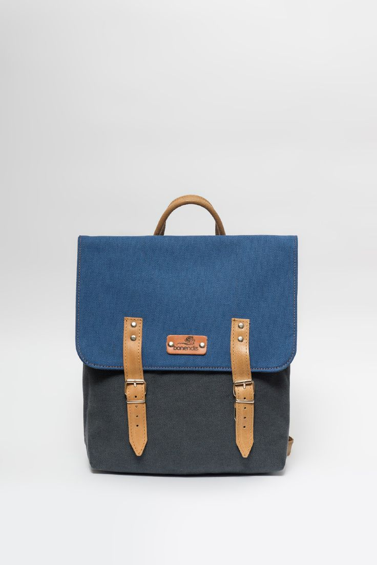 BONENDIS - AUSTIN GREY/BLUE BACKPACK