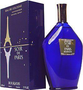 Soir De Paris Eau De Cologne Spray 7.7 Ounces for Women By Bourjois (Vintage Package) - http://www.theperfume.org/soir-de-paris-eau-de-cologne-spray-7-7-ounces-for-women-by-bourjois-vintage-package/