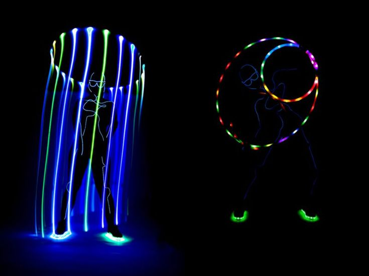 A nice LED hula hoop act where the performer disappears and the costume makes her look like a lighting silhouette