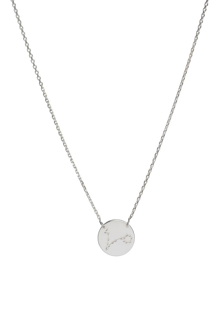 Pisces constellation necklace in 14k gold and a diamond. February 19 to March 20.  Available in white or yellow gold. Free personalized engraving on the back of the pendants. Shop the collection at www.reena.ro or order directly at reena.orders@gmail.com.