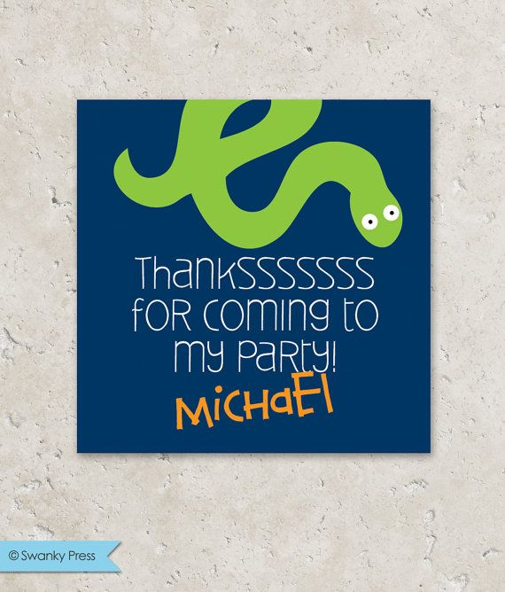 Stickers Gift Tags . Reptile Birthday Party . for by swankypress, $6.00