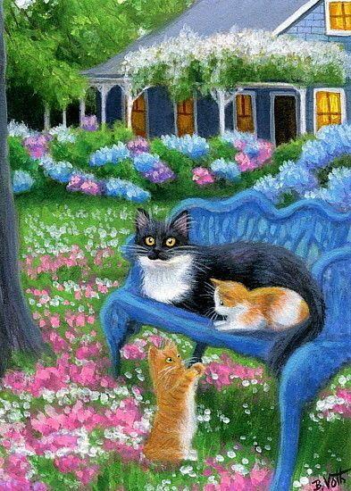 details about tuxedo cat kittens spring garden house