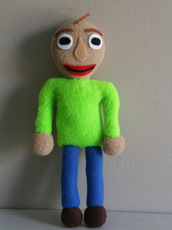 Handmade Baldi Plush Pocket Version Unofficial Baldi S Basics In Education And Learning Baldi Toy Markiplier Baldi S Plush In 2020 With Images