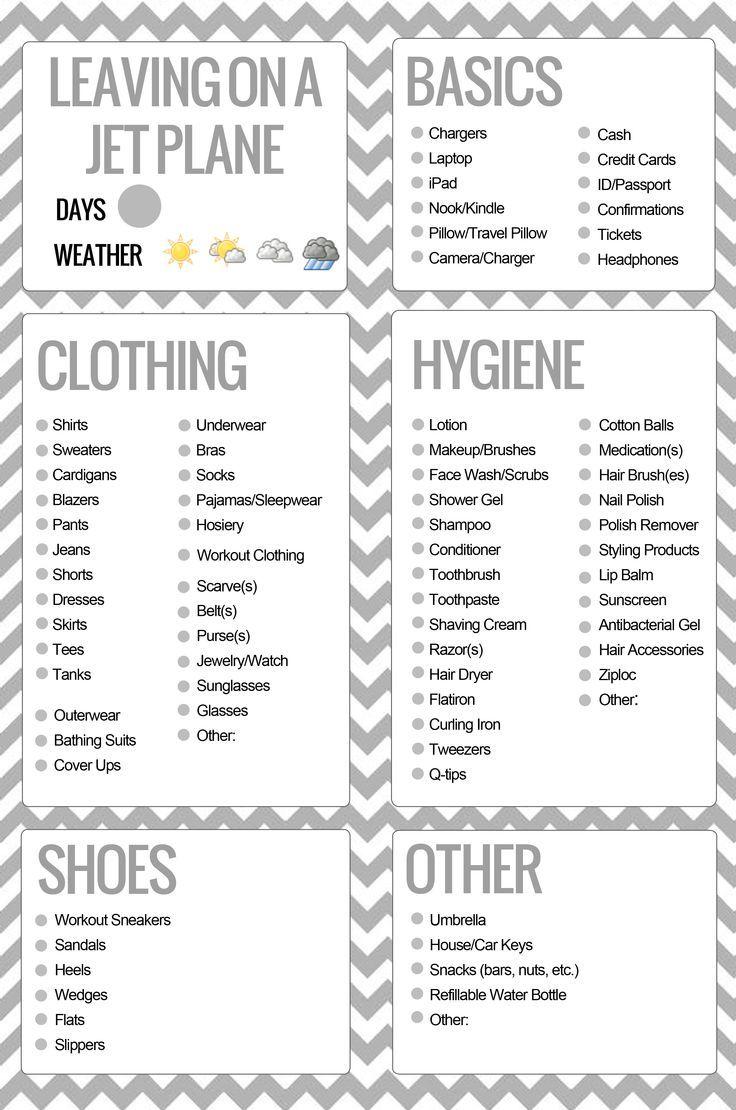 Best 25+ Travel checklist ideas only on Pinterest | Packing list ...