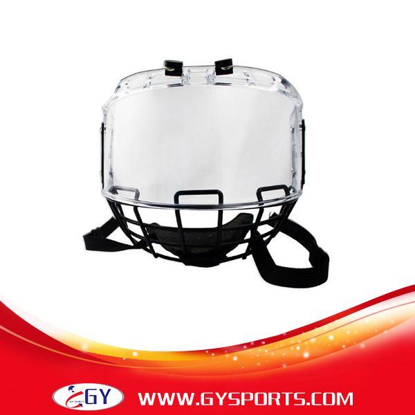 Freeshipping ventes chaudes visage bouclier extérieur anti-rayures et anti-buée à l'intérieur hockey masque