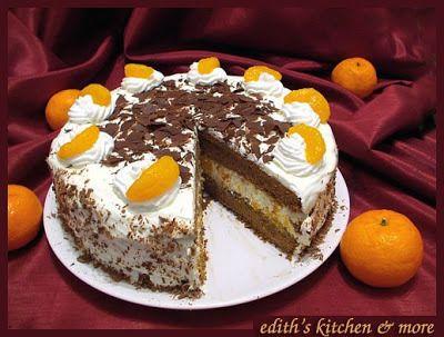 Chocolate-Mandarin Cake - Edith's Kitchen