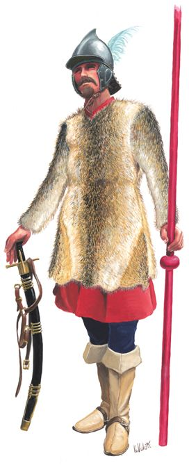 Croatian hussar officer, 1600