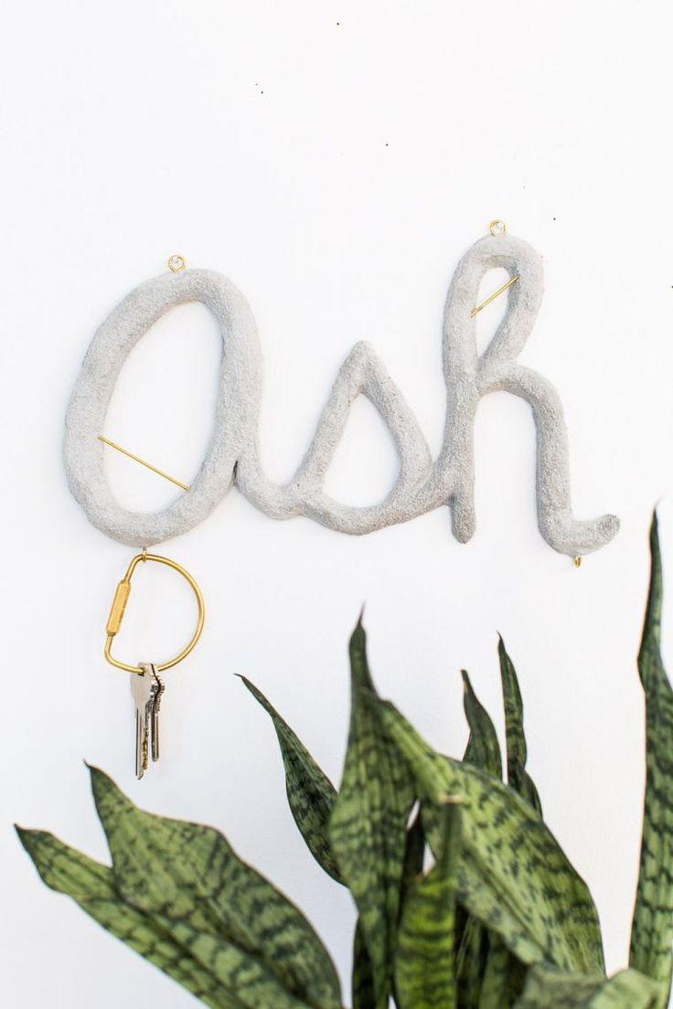 comment faire un porte clef mural et déco en lettres