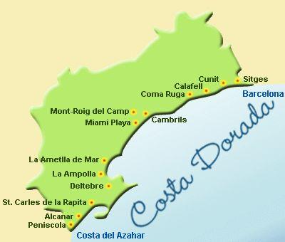 Urlaub an der Costa Dorada, Buchten, Strände, Strand