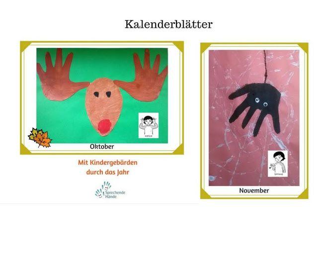 sprechende-haende.de - Der größte Blog über Kindergebärden: Handabdruck Hirsch und Spinne  - Spaß mit Fingersp...