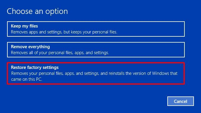 Reset Asus Laptop Factory Settings Windows 10 Di 2020