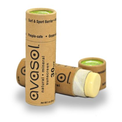 Avasol™ sunscreen, sunblock and skin protection doesn't harm the planet - its compostable cardboard tube is plastic-free!