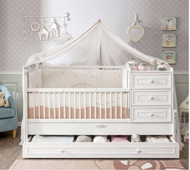 łóżko#z#szufladami#romantic#cilek#wnętrza