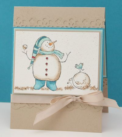 Snow Much Fun card - again - this stamp set is awesome and makes the greatest cards :)