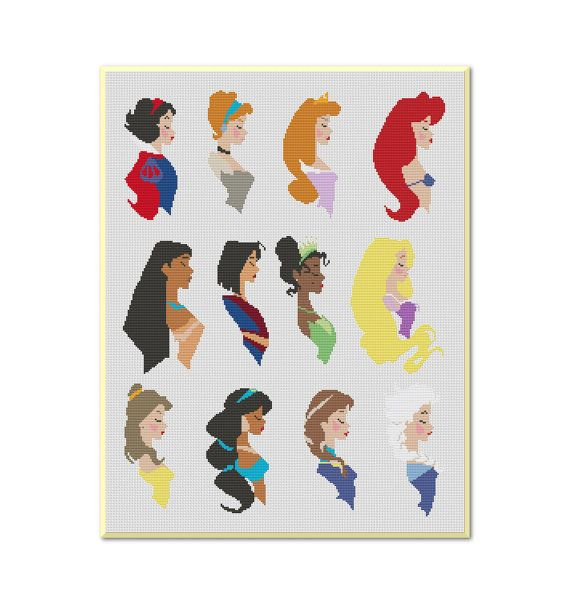 Princesses Disney Cross Stitch PatternInstant by MyCrossStitching