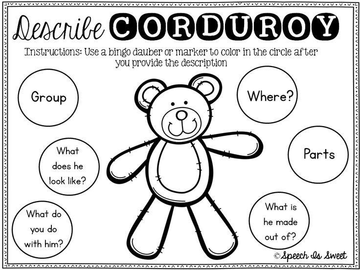 Ideas for Corduroy and freebies!
