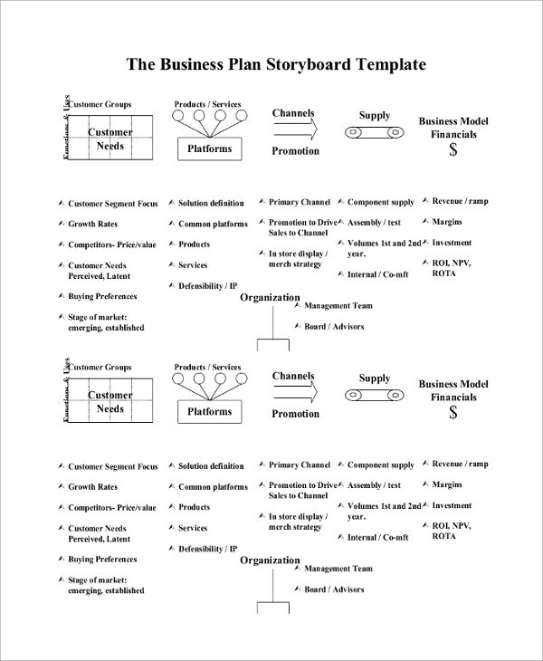 Great Storyboard Template