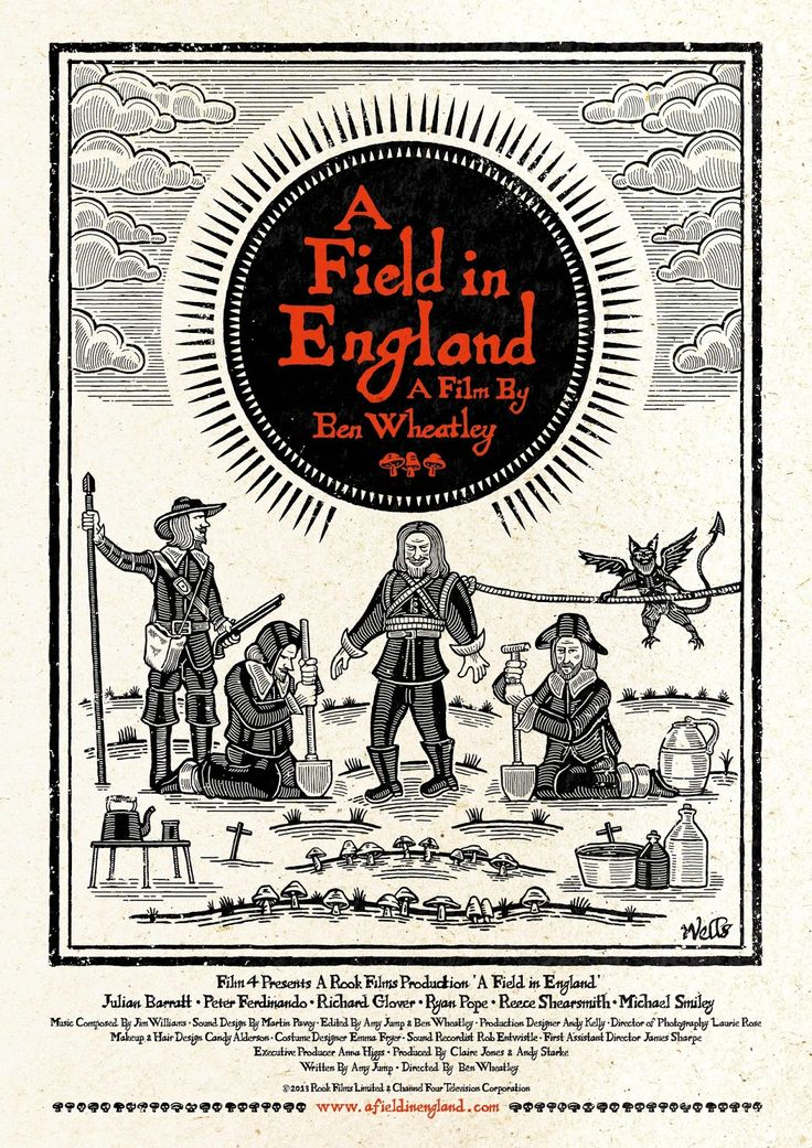 Rook Films Ltd: A Field In England Woodcut poster