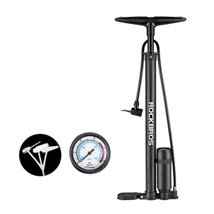 ROCKBROS 150PSI 650MM Alloy Sport al aire libre Ciclismo Bike Pump MTB Mountain Bike Pump Ball Coche Bomba