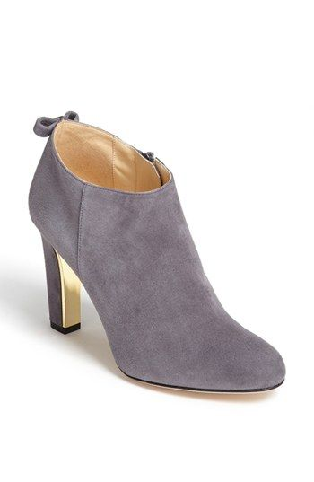 $238, Grey Suede Ankle Boots: kate spade new york Netta Bootie London Grey Suede 9 M. Sold by Nordstrom. Click for more info: http://lookastic.com/women/shop_items/152602/redirect