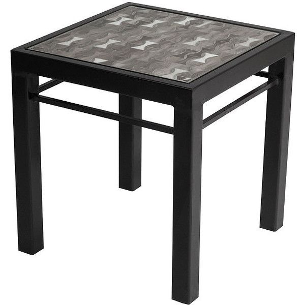 Galena Mist Modern Side Table - Graphite ($495) ❤ liked on Polyvore featuring home, outdoors, patio furniture, outdoor tables, outside side table, modern lamp tables, outdoor end tables, modern outdoor furniture and outdoor side table
