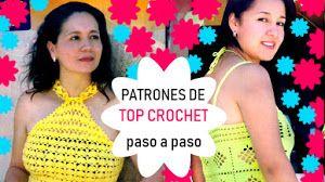 Padrões de 2 Tops para tricô Crochet com instruções passo-a-passo