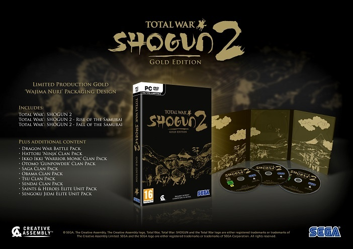 Total War: Shogun 2 – Gold Edition Now Available