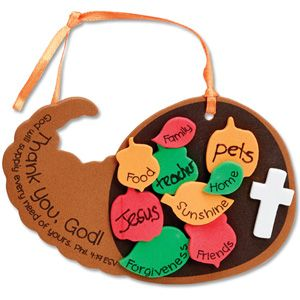 Keep them busy and share your faith with this Foam Craft Kit for Christian Thanksgiving Ages 4+-CTA Inc