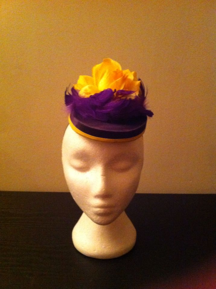 Purple and yellow. Silk base.