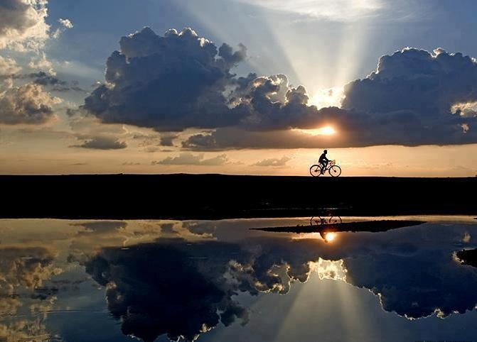 bicicleta: Photos, Reflection, Life, Nature, Sunset, Beautiful, Photography, Bicycle