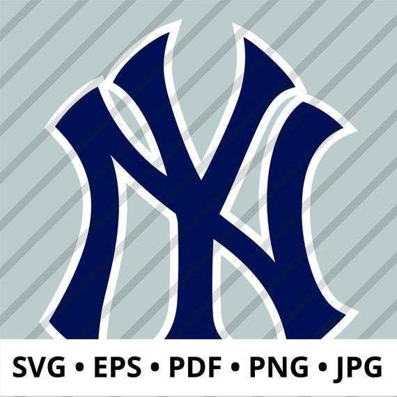 New York Yankees Logo Layered Svg Ny Yankees Mlb Logo Perfect For Diy Crafts Digital Download Includes Svg Eps New York Yankees Logo Yankees Logo Mlb Logos