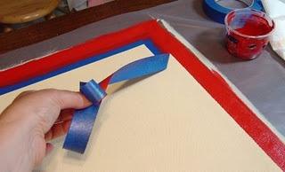 Beginning a floor cloth
