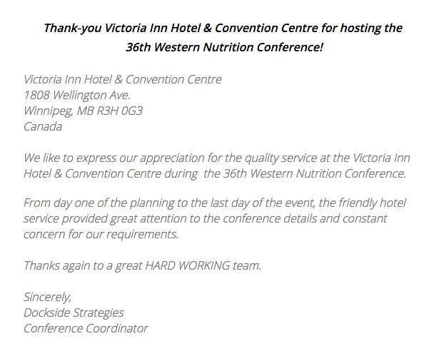 Thank you for a wonderful review, we truly appreciate your business and your trust in us. We are very happy to hear that our staff and service met your needs and expectations. We look forward to welcoming you back in the near future! Western Nutrition Conference