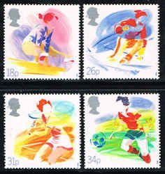 Great Britain #1209-1212 Stamps - Sports Stamps - EU GB 1209 to 1212-1
