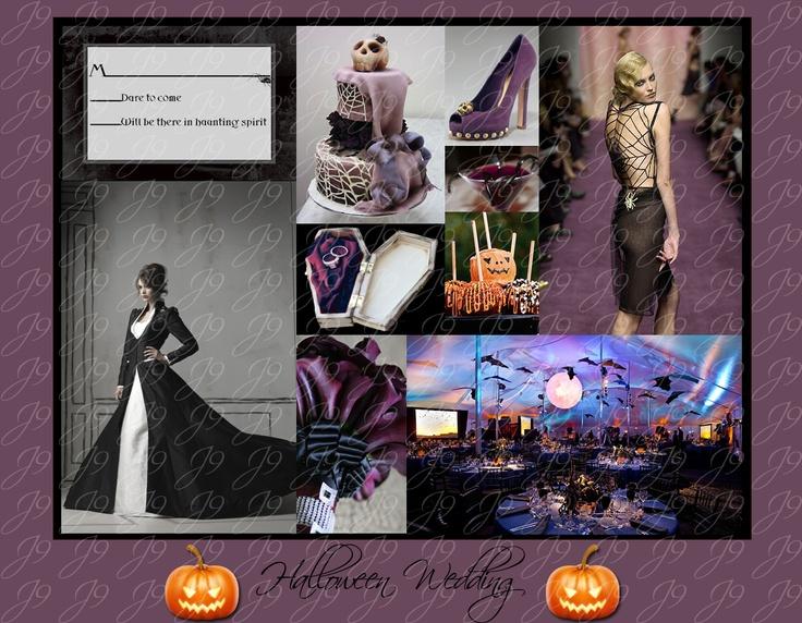 Halloween Wedding Inspiration #Halloween #Wedding