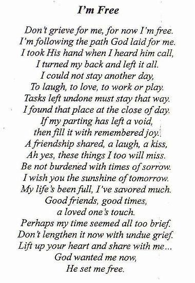 Funeral Poems for Dad | the poem we used for my dad's funeral | quotes: