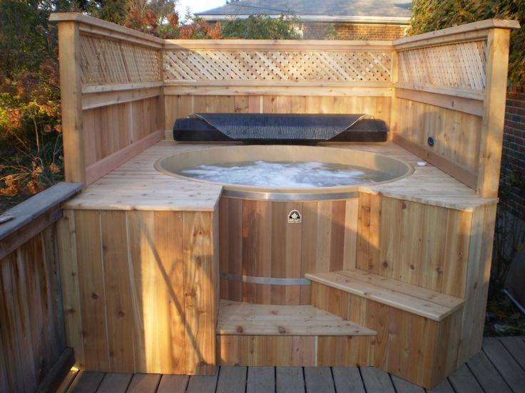 62 best Cedar Hot Tub Ideas images on Pinterest   Bubble baths ...