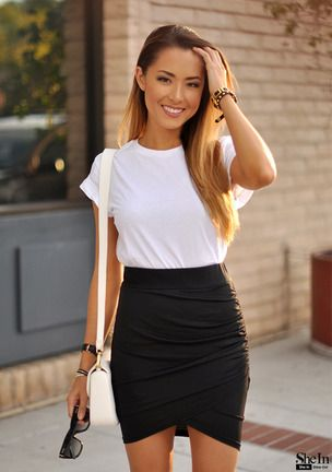 Shop Black Asymmetrical Bodycon Skirt online. SheIn offers Black Asymmetrical Bodycon Skirt & more to fit your fashionable needs.