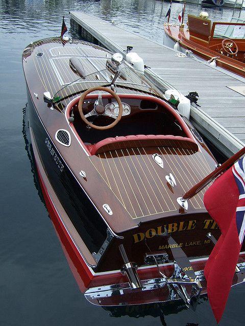 Mahogany boat