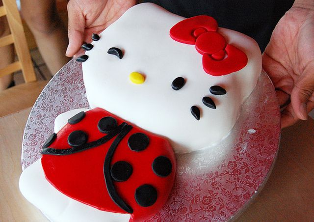 Hello Kitty Ladybug Cake by Animated Cupcakes, via Flickr