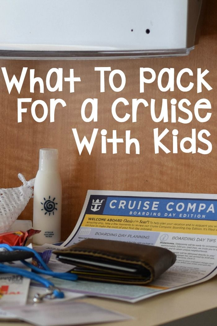 15 Best Things to Pack for a Cruise with Kids. Packing for a regular vacation is tough, but packing for a cruise is extra special because you do so many different things. Click now!